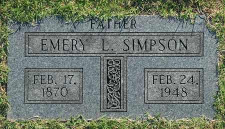SIMPSON, EMERY L. - Washington County, Oklahoma | EMERY L. SIMPSON - Oklahoma Gravestone Photos