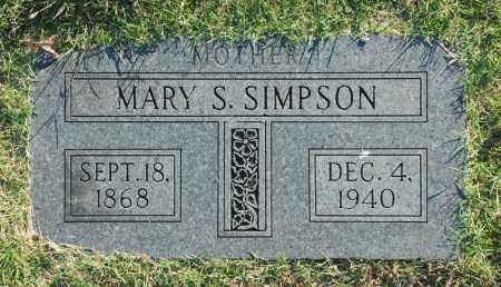 SIMPSON, MARY S. - Washington County, Oklahoma | MARY S. SIMPSON - Oklahoma Gravestone Photos
