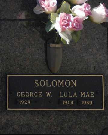 SOLOMON, GEORGE W - Washington County, Oklahoma   GEORGE W SOLOMON - Oklahoma Gravestone Photos