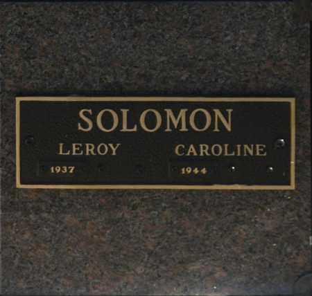 SOLOMON, CAROLINE - Washington County, Oklahoma | CAROLINE SOLOMON - Oklahoma Gravestone Photos