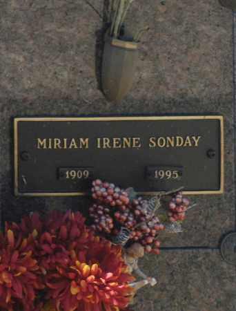 SONDAY, MIRIAM IRENE - Washington County, Oklahoma | MIRIAM IRENE SONDAY - Oklahoma Gravestone Photos