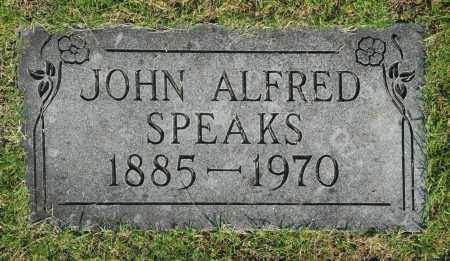 SPEAKS, JOHN ALFRED - Washington County, Oklahoma | JOHN ALFRED SPEAKS - Oklahoma Gravestone Photos