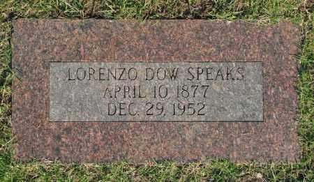 SPEAKS, LORENZO DOW - Washington County, Oklahoma | LORENZO DOW SPEAKS - Oklahoma Gravestone Photos