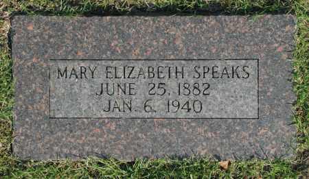 SPEAKS, MARY ELIZABETH - Washington County, Oklahoma | MARY ELIZABETH SPEAKS - Oklahoma Gravestone Photos