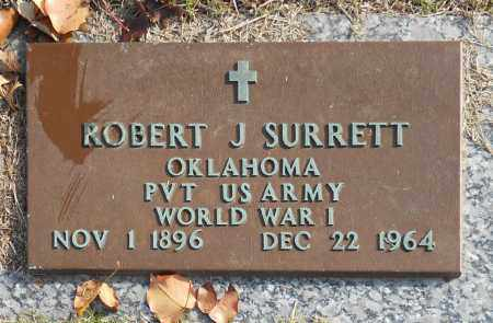 SURRETT (VETERAN WWI), ROBERT J - Washington County, Oklahoma | ROBERT J SURRETT (VETERAN WWI) - Oklahoma Gravestone Photos