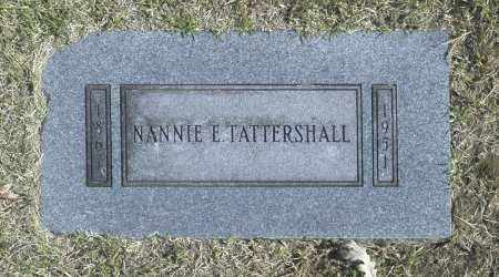 TATTERSHALL, NANNIE E - Washington County, Oklahoma | NANNIE E TATTERSHALL - Oklahoma Gravestone Photos