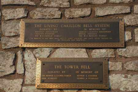 *.*, BELL TOWER PLAQUE - Washington County, Oklahoma | BELL TOWER PLAQUE *.* - Oklahoma Gravestone Photos
