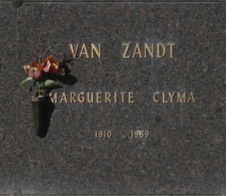 VAN ZANDT, MARGUERITE CLYMA - Washington County, Oklahoma | MARGUERITE CLYMA VAN ZANDT - Oklahoma Gravestone Photos