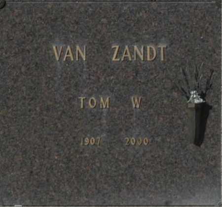 VAN ZANDT, TOM W - Washington County, Oklahoma | TOM W VAN ZANDT - Oklahoma Gravestone Photos