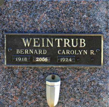 WEINTRUB, CAROLYN R - Washington County, Oklahoma | CAROLYN R WEINTRUB - Oklahoma Gravestone Photos