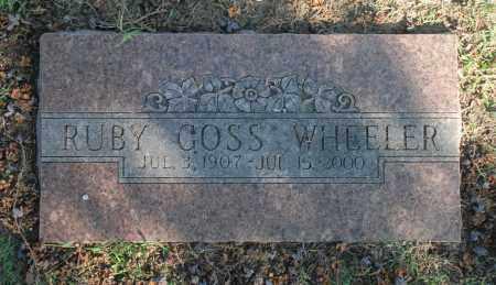 WHEELER, RUBY GOSS - Washington County, Oklahoma   RUBY GOSS WHEELER - Oklahoma Gravestone Photos