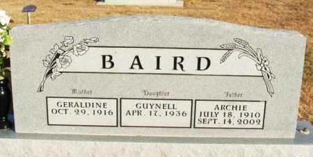BAIRD, ARCHIE - Washita County, Oklahoma | ARCHIE BAIRD - Oklahoma Gravestone Photos