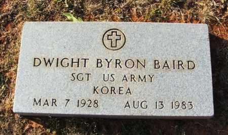 BAIRD (VETERAN KOR), DWIGHT BYRON - Washita County, Oklahoma | DWIGHT BYRON BAIRD (VETERAN KOR) - Oklahoma Gravestone Photos
