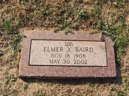 BAIRD, ELMER Y - Washita County, Oklahoma   ELMER Y BAIRD - Oklahoma Gravestone Photos