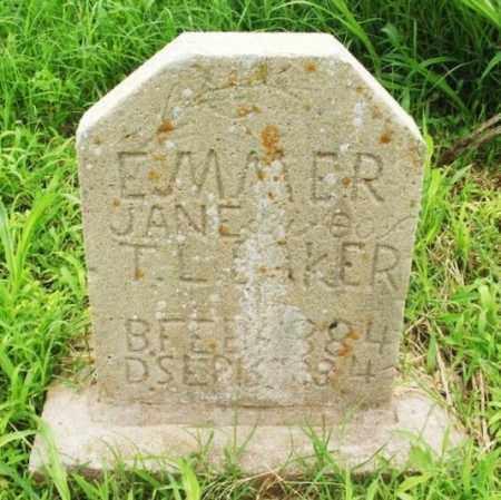 BAKER, EMMER JANE - Washita County, Oklahoma | EMMER JANE BAKER - Oklahoma Gravestone Photos
