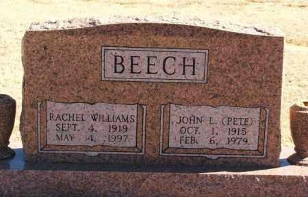 "BEECH, JOHN L ""PETE"" - Washita County, Oklahoma | JOHN L ""PETE"" BEECH - Oklahoma Gravestone Photos"
