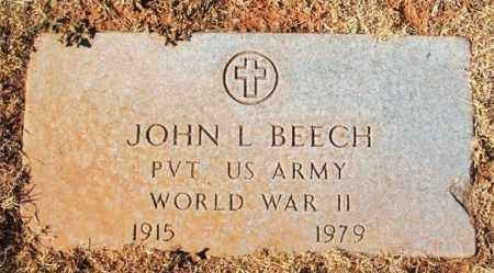 BEECH (VETERAN WWII), JOHN L - Washita County, Oklahoma | JOHN L BEECH (VETERAN WWII) - Oklahoma Gravestone Photos