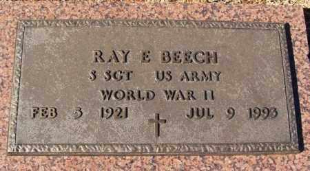 BEECH (VETERAN WWII), RAY E - Washita County, Oklahoma   RAY E BEECH (VETERAN WWII) - Oklahoma Gravestone Photos