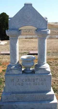 CHRISTIAN, W J - Washita County, Oklahoma | W J CHRISTIAN - Oklahoma Gravestone Photos