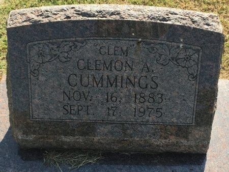 "CUMMINGS, CLEMON A ""CLEM"" - Woods County, Oklahoma 