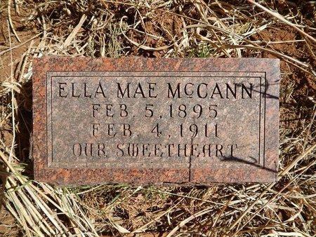MCCANN, ELLA MAE - Woods County, Oklahoma | ELLA MAE MCCANN - Oklahoma Gravestone Photos