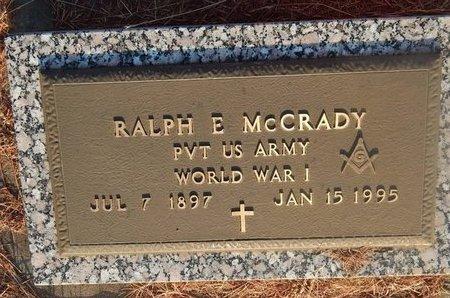 MCCRADY (VETERAN WWI), RALPH E - Woods County, Oklahoma | RALPH E MCCRADY (VETERAN WWI) - Oklahoma Gravestone Photos