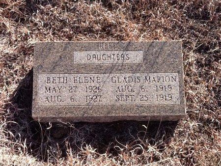 REED, BETH ELENE - Woods County, Oklahoma   BETH ELENE REED - Oklahoma Gravestone Photos