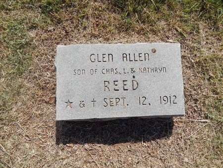 REED, GLEN ALLEN - Woods County, Oklahoma | GLEN ALLEN REED - Oklahoma Gravestone Photos