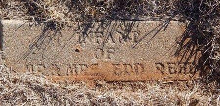 REED, INFANT - Woods County, Oklahoma | INFANT REED - Oklahoma Gravestone Photos