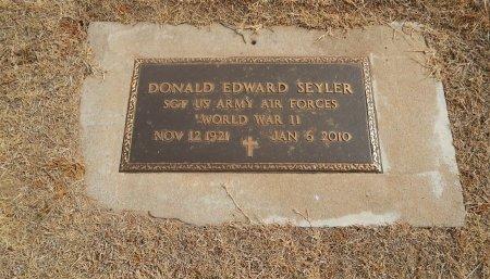 SEYLER (VETERAN WWII), DONALD EDWARD - Woods County, Oklahoma   DONALD EDWARD SEYLER (VETERAN WWII) - Oklahoma Gravestone Photos