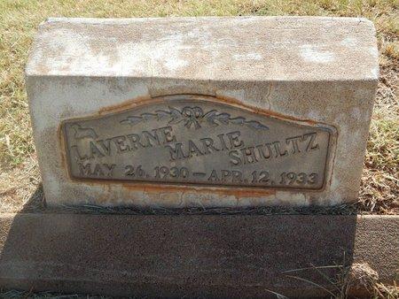 SHULTZ, LAVERNE MARIE - Woods County, Oklahoma | LAVERNE MARIE SHULTZ - Oklahoma Gravestone Photos