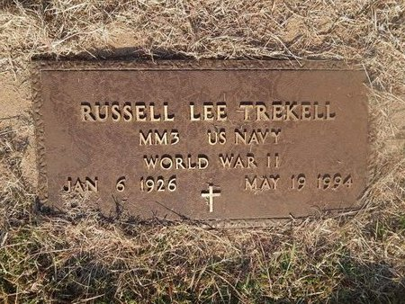 TREKELL (VETERAN WWII), RUSSELL LEE - Woods County, Oklahoma   RUSSELL LEE TREKELL (VETERAN WWII) - Oklahoma Gravestone Photos