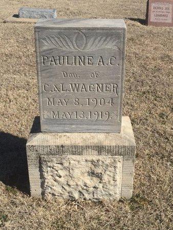 WAGNER, PAULINE A C - Woods County, Oklahoma   PAULINE A C WAGNER - Oklahoma Gravestone Photos