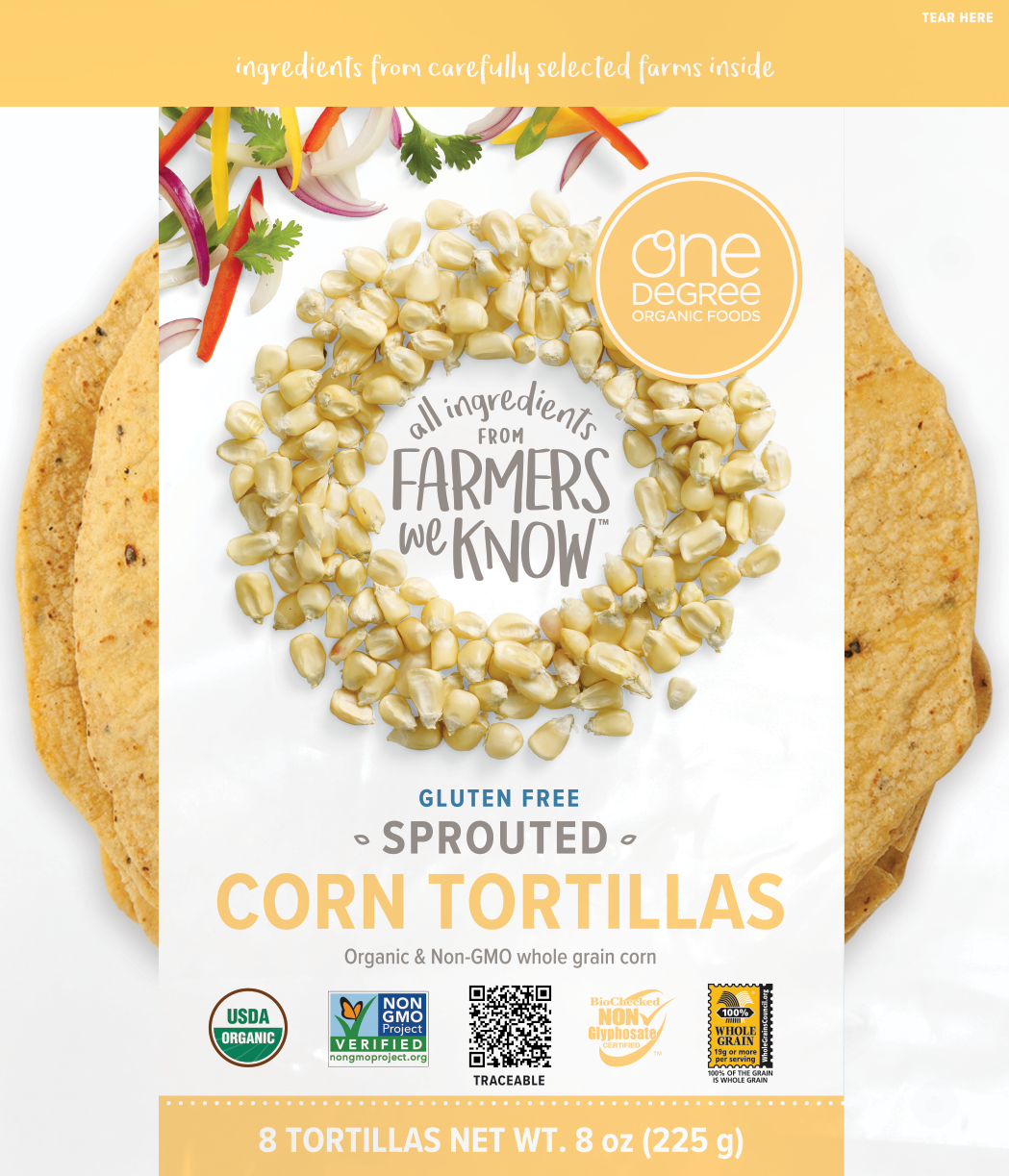 Sprouted Gluten Free Corn Tortilla - One Degree Organics