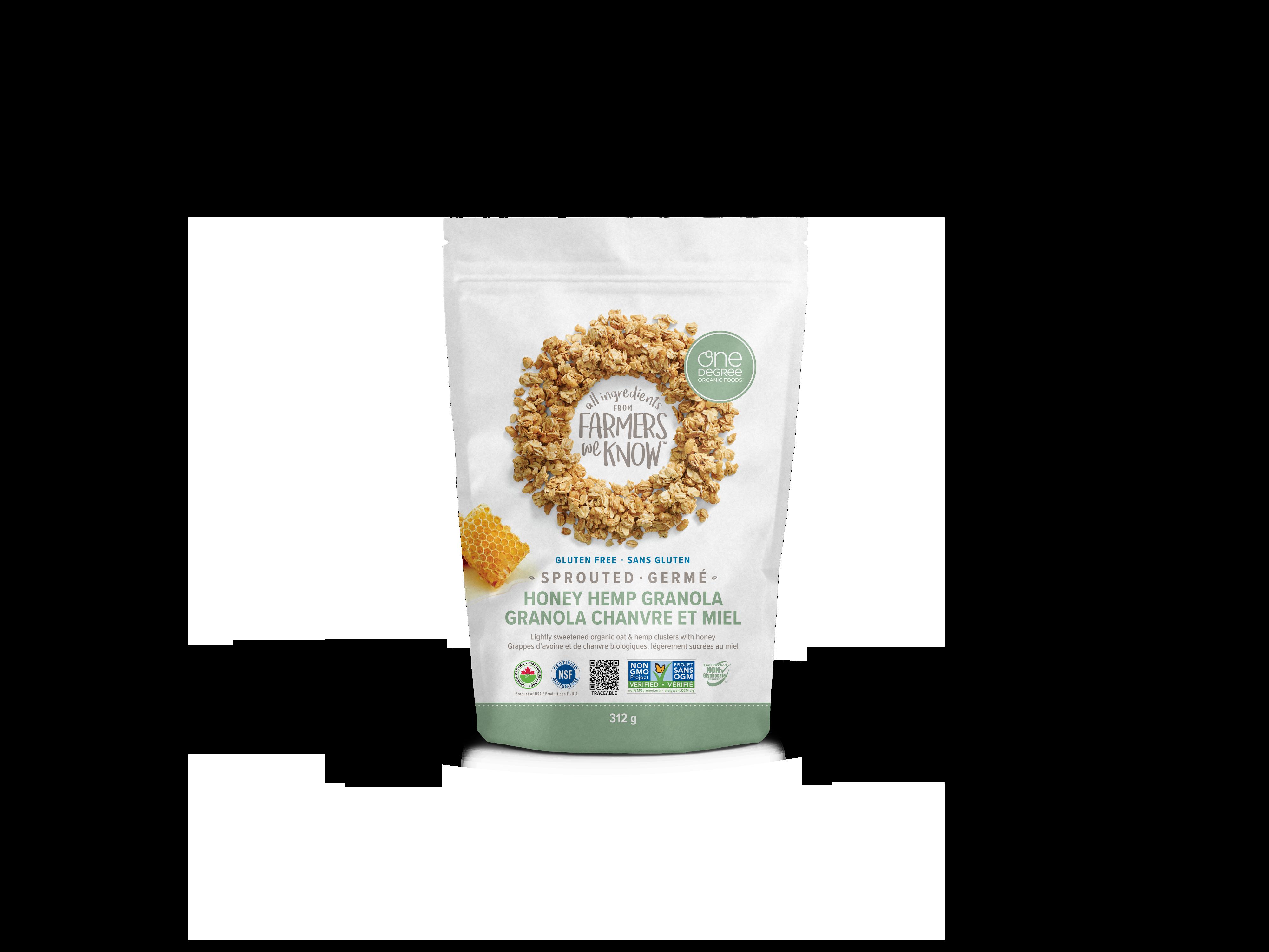 Sprouted Oat Honey Hemp Granola - One Degree Organics