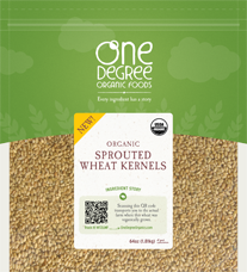 One Degree Organic Foods Sprouted Wheat Kernels Natural & Organic Product Copmany Favorites at Natural Product Expo by @BlenderBabes