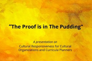 CEdC presentation - The Proof is in the Pudding