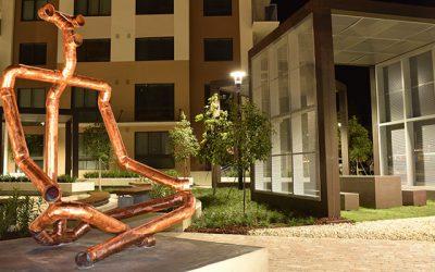 CityZen Garden, Broadstone City Center. Sculpture by Béju.