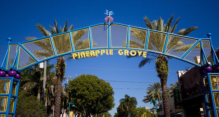 Delray Beach Pineapple Grove Sign