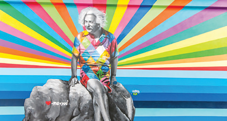 Eduardo Kobra Einstein Canvas Outdoor Museum