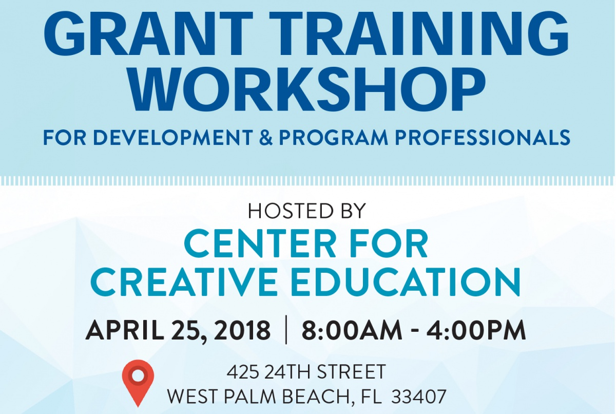 Grant Training Workshop - Center for Creative Education