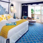 Jonathan Adler designed guest room at Eau Palm Beach Resort and Spa
