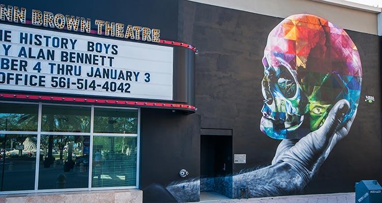 Palm Beach Dramaworks Kobra Mural Canvas Outdoor Museum