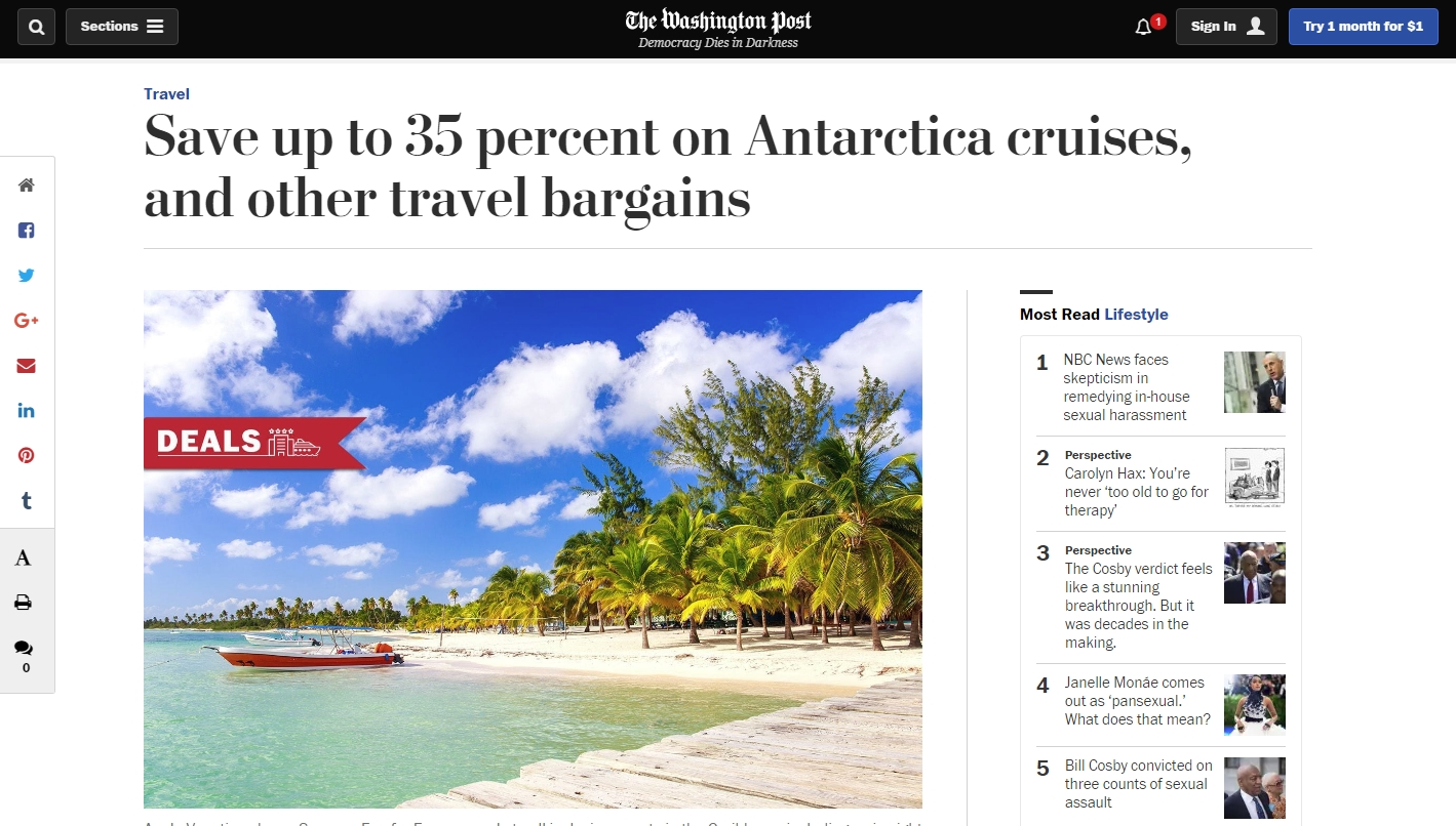 Washington Post Travel Deals - MOSAIC - 042718