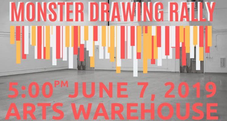 arts warehouse - monster drawing rally