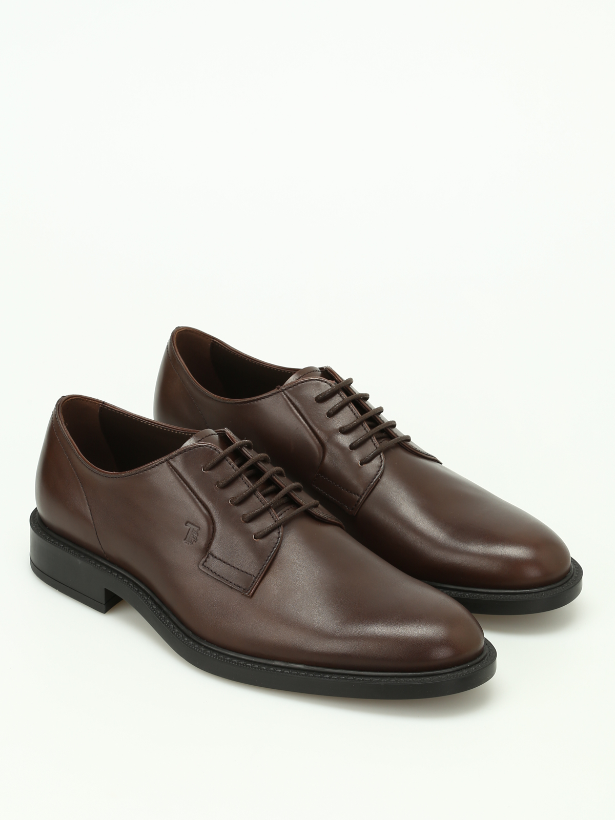 dark brown leather derby shoes tod 39 s paolo fiorillo. Black Bedroom Furniture Sets. Home Design Ideas