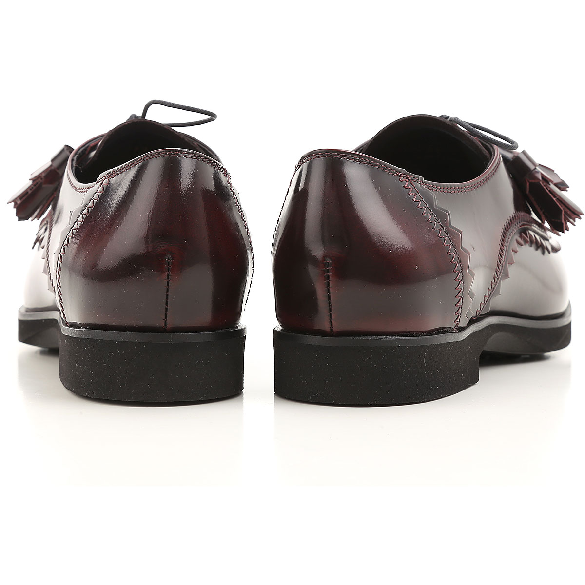 Leather Derby with tassels TOD