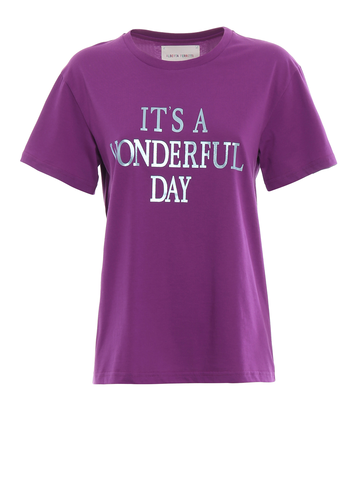 T-shirt viola It's a Wonderful Day