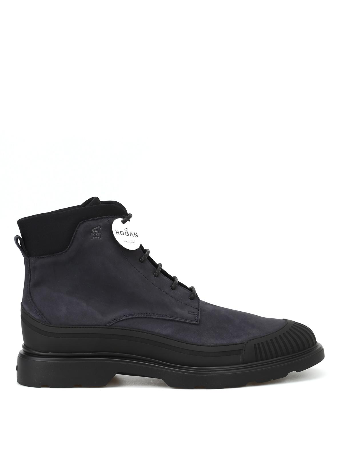 3691998abddb Blue nubuck combat boots - HOGAN - Paolo Fiorillo