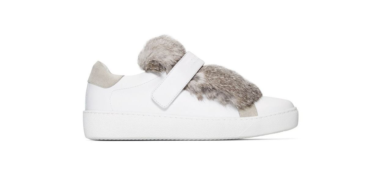 7570e5179b1 Lucie mink fur tongue leather sneakers - MONCLER - Paolo Fiorillo